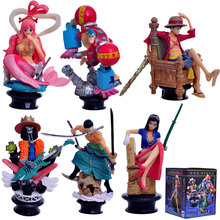 Mifen Craft 6pcs/set Anime One Piece Action Figures Shirahoshi Zoro Luffy franky Brook Boxed PVC figurine dolls