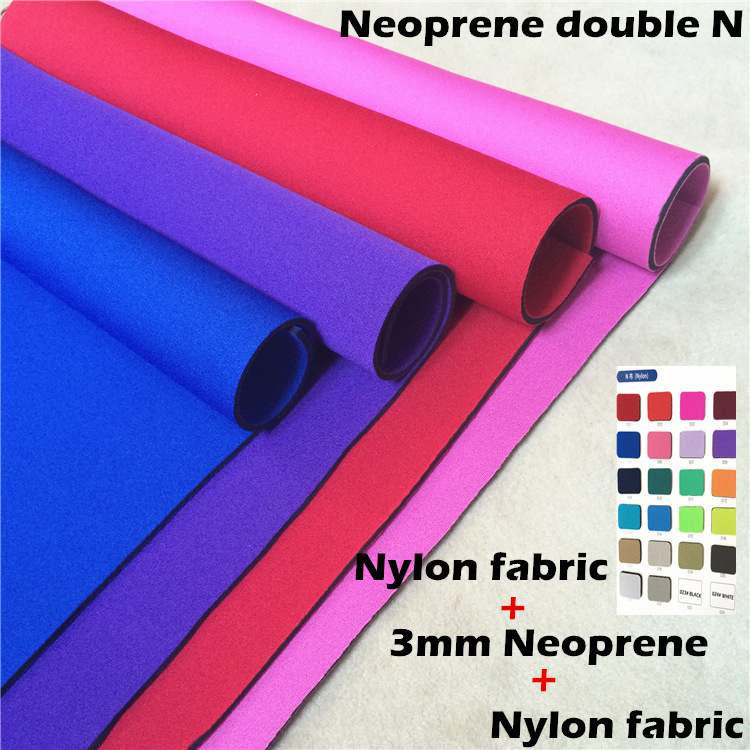 NEOPRENE FABRIC NYLON double sides laminated nylon fabric N cloth for Diving surfing fishing suit protective accessory bag color(China (Mainland))