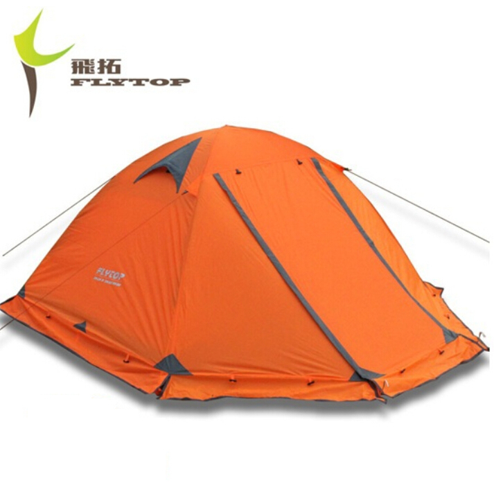 High Quality New Tents 2 person 2014 Outdoor Camping Equipment Waterproof Double Layer Dome Aluminum pole Camping Tent FLYTOP(China (Mainland))