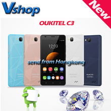 Original OUKITEL C3 3G Smartphone 5.0 inch Android 6.0 RAM 1GB ROM 8GB MTK6580 Quad Core 1.3GHz Dual SIM Mobile Phone GPS WIFI(China (Mainland))
