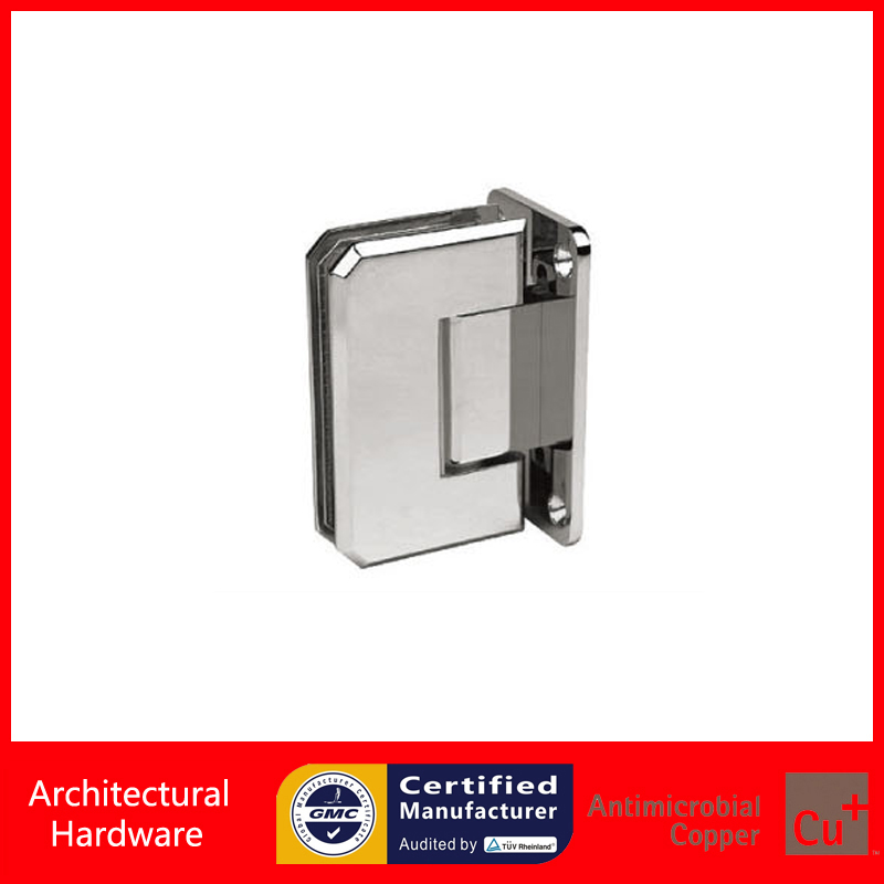 90 Degree Shower Door Hinge Solid Copper Spring Hinges Glass to Wall Fitting Glas Clamp DC-3041(China (Mainland))