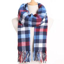 [VIANOSI] 2019 клетчатый зимний шарф женский тёплый платок одноцветные шарфы модные шарфы на каждый день кашемировые шарфы(China)