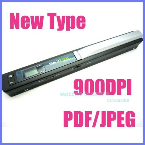 Free shipping!! Skypix Handheld Handy Portable A4 Document Photo Scanner 900 DPI(China (Mainland))