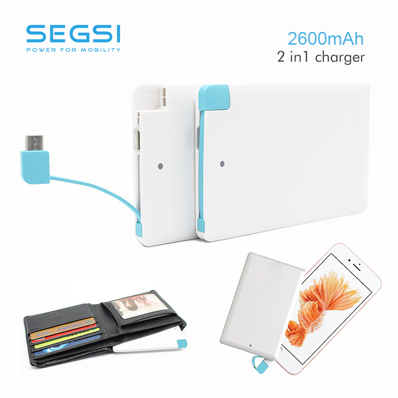 2600mah mini Power bank Card Mobile External Portable Battery Charger for iPhone 5 5s 6 6+ for iPod iPad Any 5V Device(China (Mainland))