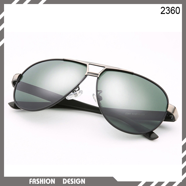 Hot sale! New fashion wild style large aviator polarised sunglasses gray gold and black metal frame high quality lens glasses(China (Mainland))