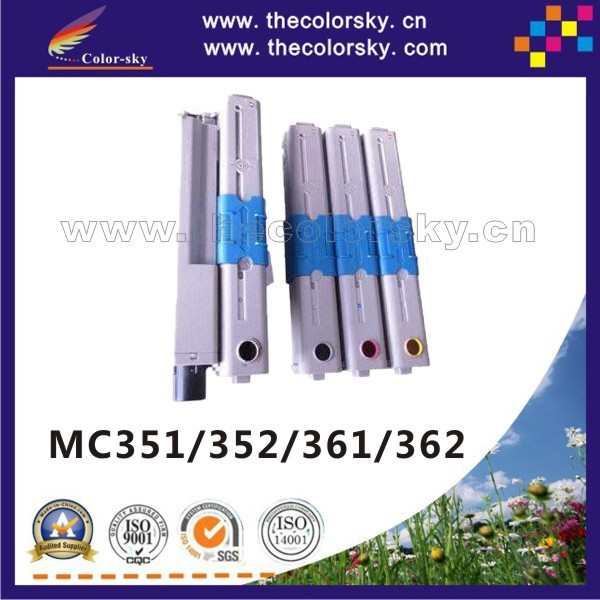 Фотография (CS-OMC351) compatible toner printer cartridge for OKI MC351 MC352 MC361 MC362 MC-351 MC-352 MC-361 MC-362 kcmy 3.5k/2k freeDHL