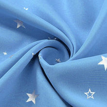 Stars Print Blackout Navy Curtains and Sheer Drapes for Kids Room Pink White Sheer Voile Curtains for Bedroom Customized WP1233(China)