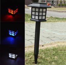 4pcs/lot Waterproof solar light changeable 7 colour Cottage solar lamp LED Spot Light Landscape Outdoor Garden Path Lawn lamp(China (Mainland))