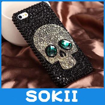 3D Handmade Skull Bling case cover for iPhone 5 Cover, For  4G 5S 5C luxury diamond  fashion bling skull back case