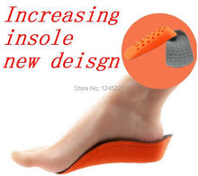 Wholesale Priceinvisibility taller insert Men and women Cushion height increase high increasing insoles Shoe 2014 new feet care(China (Mainland))