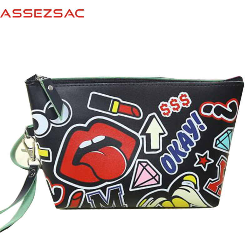 Assez sac free shipping fashion women cosmetic cases travel handbags large capacity wash bags make up cosmetic case LS7336as(China (Mainland))