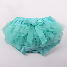 Girl PP Shorts Cute Baby Girls Short Pants Cotton Layers Chiffon Ruffled Newborn Bloomer Solid Color Shorts Kids Diaper Covers(China (Mainland))