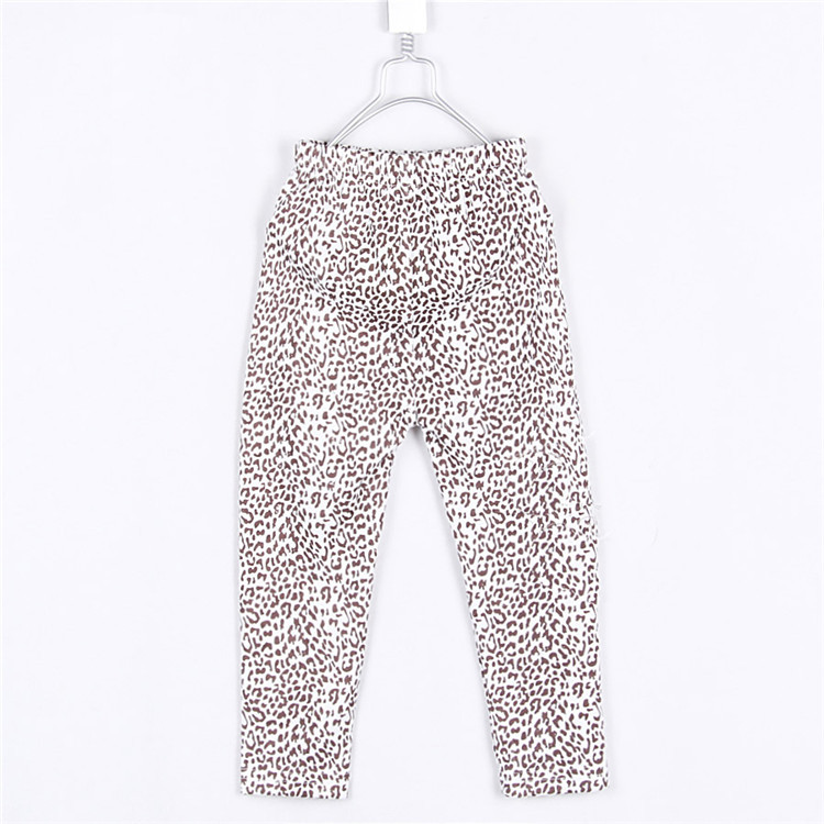 2015 spring & autumn new style leopard print style little girls skinny leggings baby girls long trousers clothing A2055(China (Mainland))