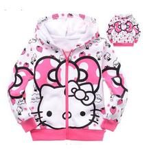 Retail,1pcs/1lot cartoon clothes,girls sweater 100% cotton sweater girls clothing hoodie free shipping(China (Mainland))