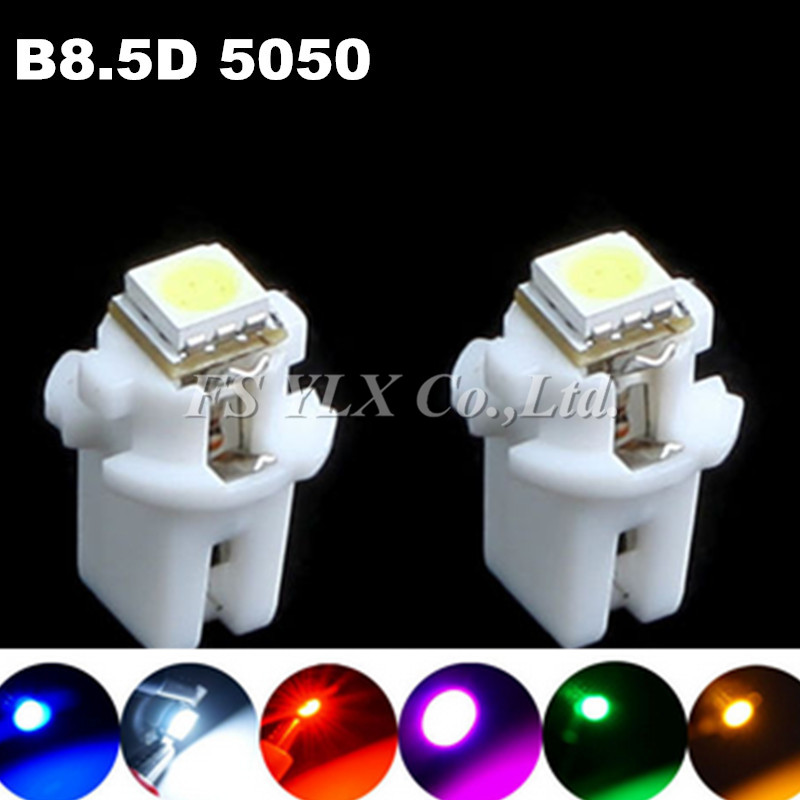 B8.5d 509T 5050 Led 1 SMD T5 Lamp Car Gauge Speedo Dash Bulb Dashboard instrument Light 12v blue red green white yellow 100/lot(China (Mainland))