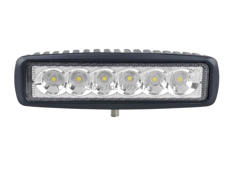 6'' 18W LED Work Light 12V 24V 1380lm Mini LED 4X4 Light Bar Car Accessories Offroad Driving LED Bar Light For ATV Truck(China (Mainland))