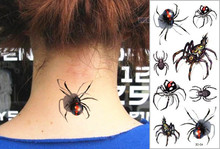 Sexy Black Spider 3d Flash Temporary Tattoo Sticker 1 sheet 19 9cm Selfie Hottest EN71 High