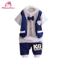 Free shipping 2015 new summer baby clothing set baby boy s fashion new design cotton suits