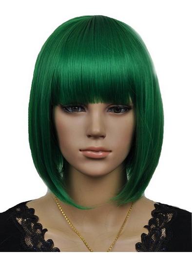 Dark Green Wigs 78