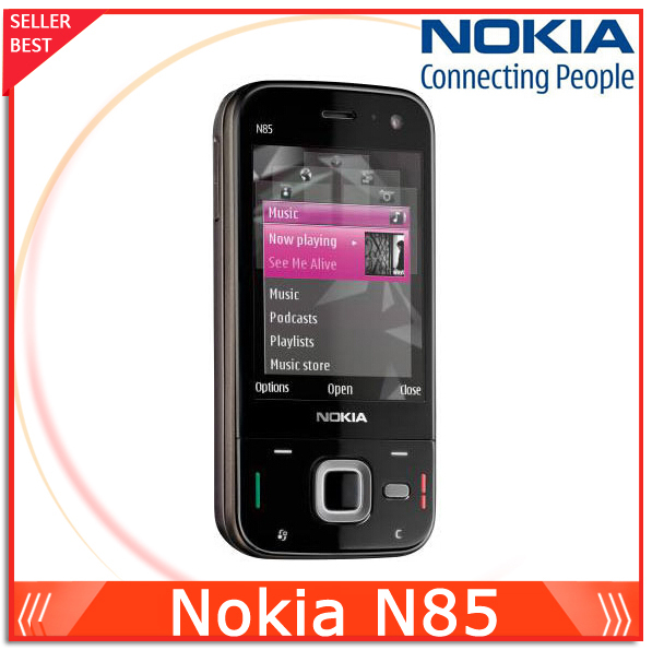 Unlocked N85 Original phone Nokia N85 GSM 3G 2.6'' Screen WIFI GPS Bluetooth FM 5MP Camera mobile phone Free shipping(China (Mainland))