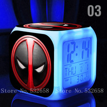 Buy 7color LED light Deadpool toys & hobbies Marvel cartoon designed action & toy figures digital kids classic toys for $8.42 in AliExpress store
