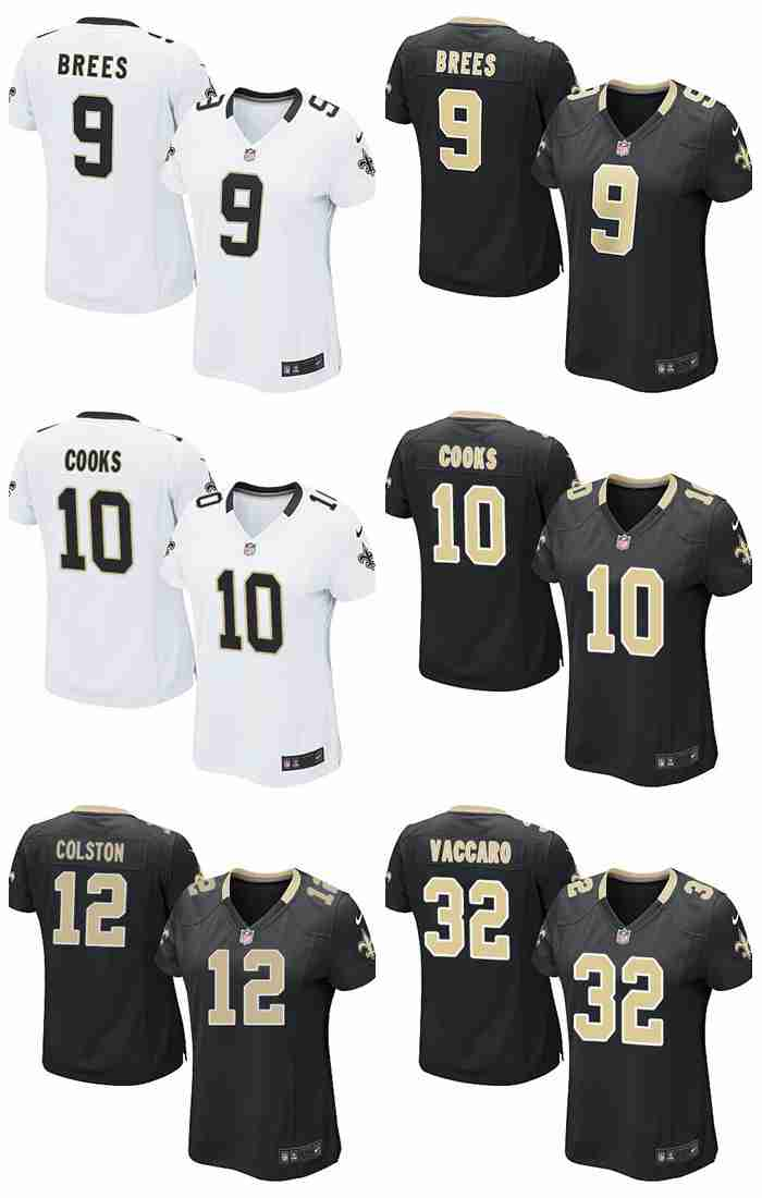 Top quality Kenny Vaccaro Drew Brees Brandin Cooks Marques Colston For women New Orleans(China (Mainland))