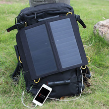 Outdoor Solar Charger bag Panel Charger for Iphone smart phone Backup with Dual USB Port for Laptop PC Phone(China (Mainland))