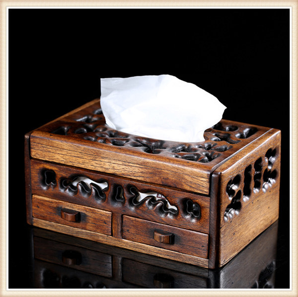 Здесь можно купить  Free shipping 2015 vintage thailand style wooden throughcarved Tissue Boxes multifunctional napkin box wooden storage box drawer  Дом и Сад