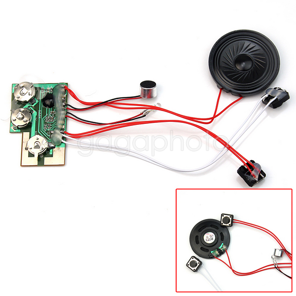 10s 10 Seconds Sound Voice Recordable Module Device Chip for Card With Buttons(China (Mainland))