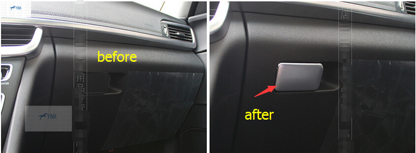 accessories For KIA Optima K5 2016 ABS Copilot Storage Box Sequins Cover Trim 1pcs<br><br>Aliexpress
