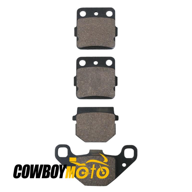 Motorcycle Sintered 4 Pcs Front Rear Brake Pads For KAWASAKI KX 80 R3 KX80 S1 V1 KX100 1993- Free shipping Get Sticker for free(China (Mainland))