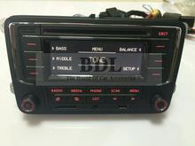 Russian Free Shipping VW Car Radio RCN210 CD MP3 USB SD AUX With Bluetooth Function For Passat B6 Polo Golf Jetta MK5 MK6 Tiguan(China (Mainland))