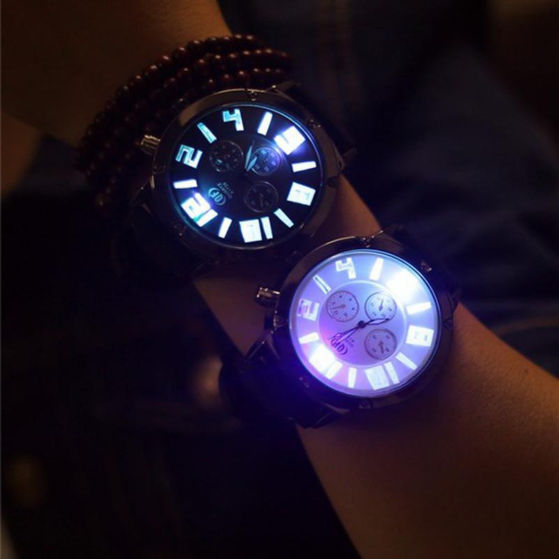Fashion LED Sport Quartz Watch For Men Women Lover Top Brand Luxury Ladies Watch Casual Shine Wristwatch Clock Relojes Hombre(China (Mainland))