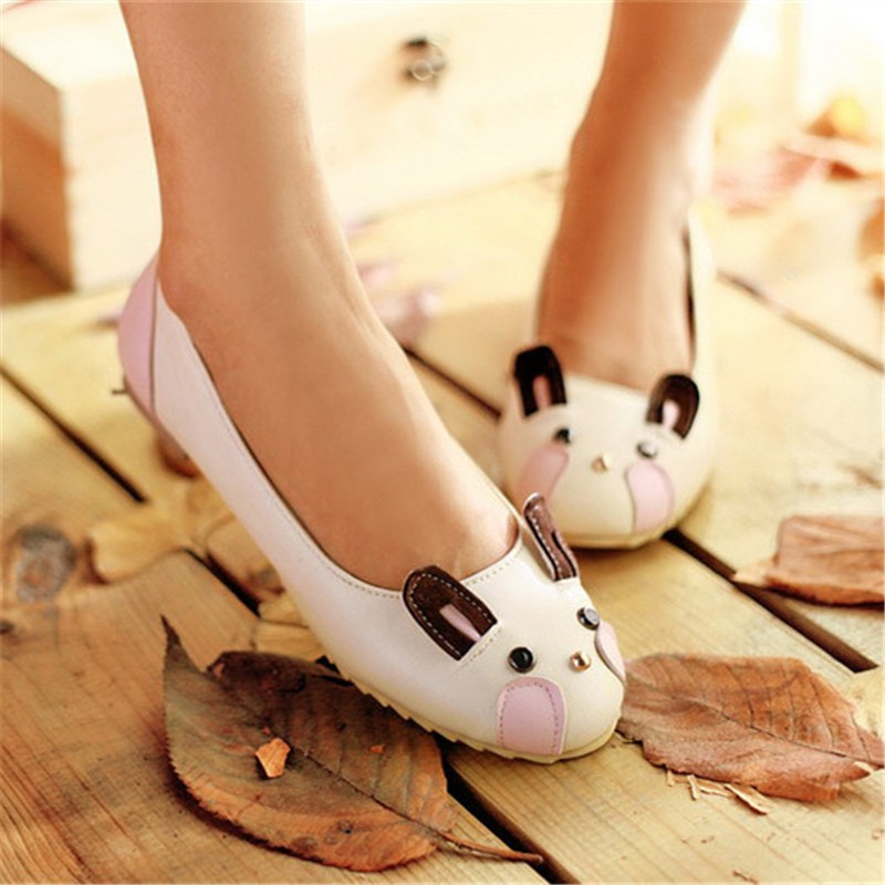 ENMAYDA Flats Shoes Spring and Autumn  Poninted Toe Flats Shoes 4 Colors White Shoes Woman Size 34-39 Slip-on Cute Women Flats