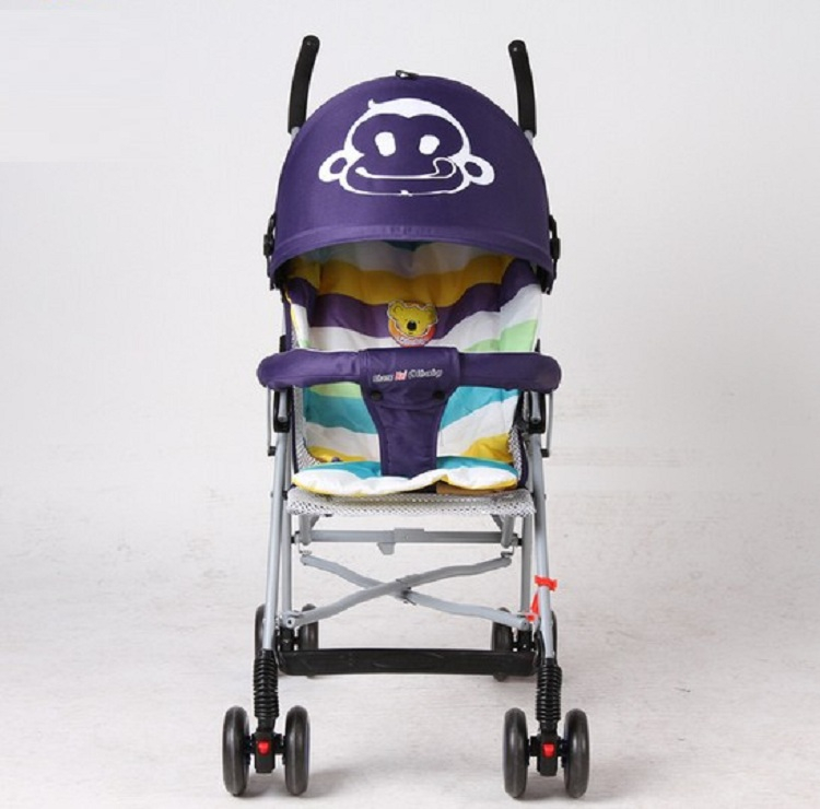 Light Baby stroller Four Wheel Boarding Folding Children Stroller Car Kid Carriage Buggy Pram 0-3 years