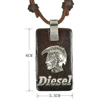 Jewelry Men Necklace Charming Necklace Rock Brave Tag Pendant Wholesale Jewelry Free Shipping