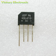 New 5PCS/Lot KBL410 KBL-410 4A 1000V Single Phases Diode Rectifier Bridge Wholesale Electronic(China (Mainland))