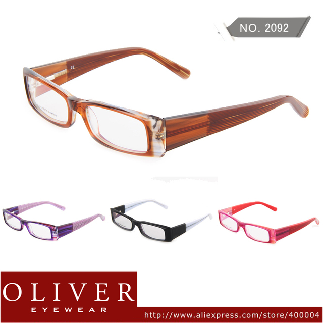 New Retail Designer Fashion Style Spectacle Frames Glasses Eyeglasses High Quality Hand Made Acetate Oliver brand 2092