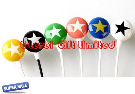 200pcs/lot DHL Free Shipping, 3.5mm Chocolate Star EHP Candy Stereo Earphone Headphone for MP3(China (Mainland))