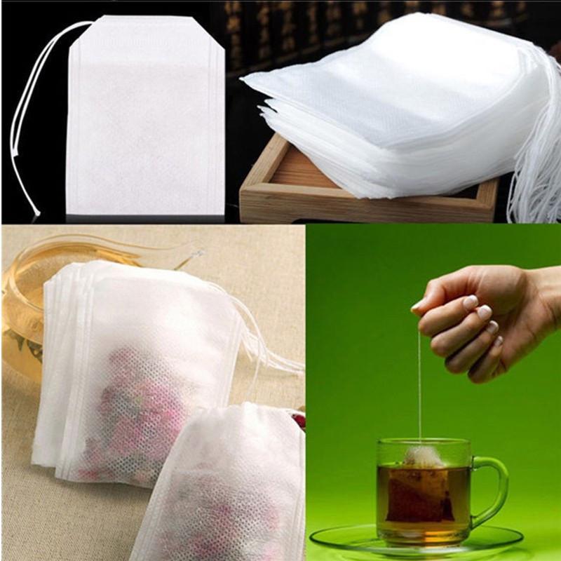 100 pcs 5.5 x 7cm Empty Teabags String Heat Seal Filter Paper Herb Loose Tea Box Bag(China (Mainland))