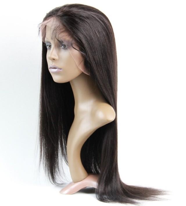 "Front Lace Human Hair Wigs Brazilian Virgin Hair Yaki Straight Front Lace wig 10′-20""Front Lace Human Hair Wigs For Black Women"