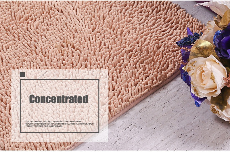 80120cm New Chenille Bathroom Mats Large Super Absorbent Water Carpet Non-Slip Mat Kitchen Bathroom Bath Mats With Free Shipping11