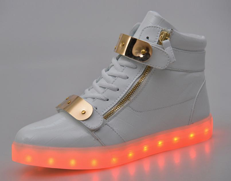 2016 Unisex Led Luminous Light Shoes Men Women Fashion USB rechargeable Light Led Shoes for Adult