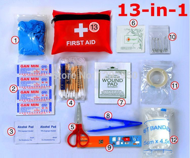 Outdoor home medical kits earthquake disaster prevention package chartered by medical kits first aid kit 13 Kit(China (Mainland))