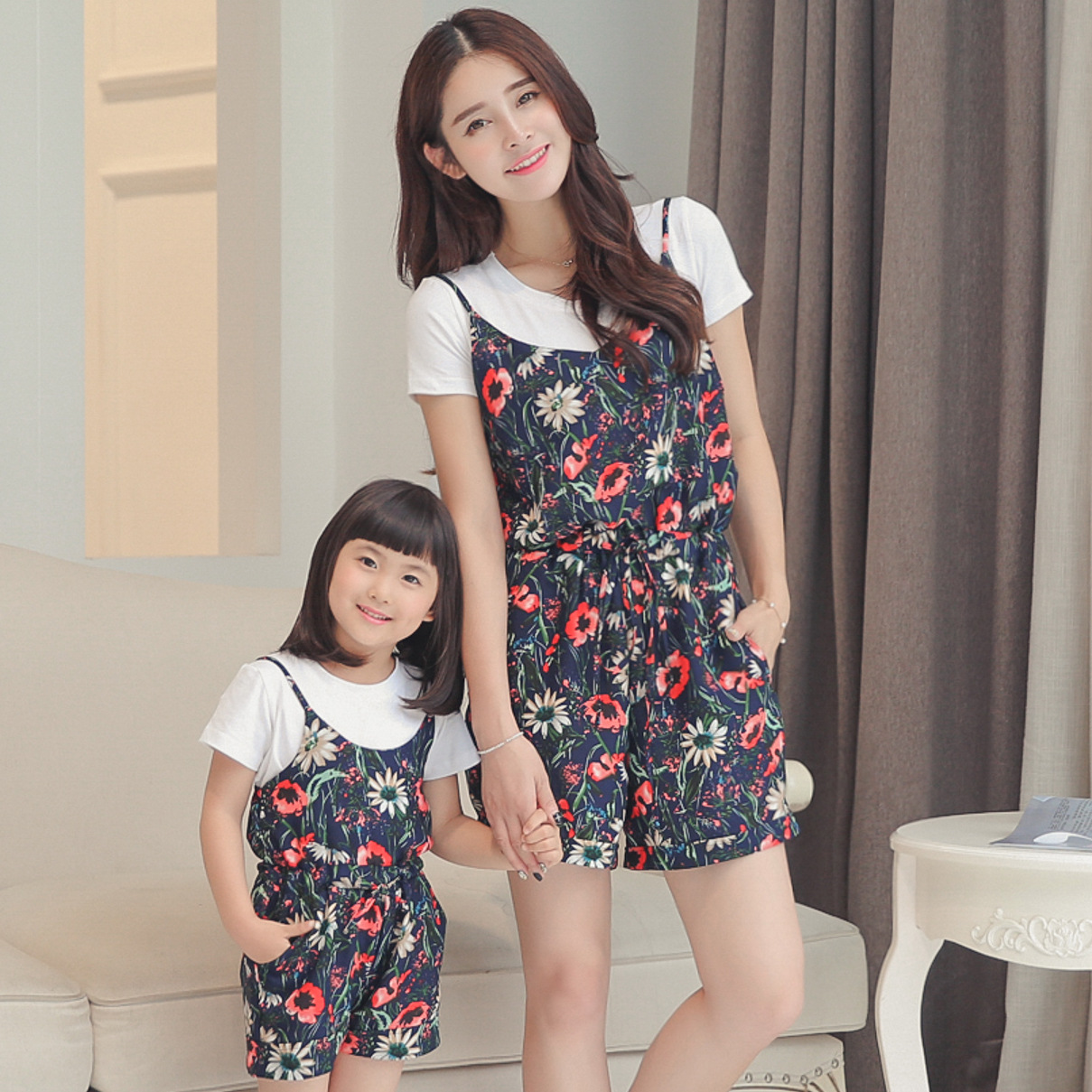 2015 Limited Sets Striped Cute 6112015 Summer New Water Skirt Two Piece Flower Siamese Children Female Clothing Wholesale Agent(China (Mainland))
