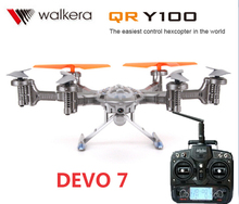 Original Walkera QR Y100 DEVO 7 5.8Ghz 6-Axis FPV Hexacopter Drone with Camera  Support IOS/Android System