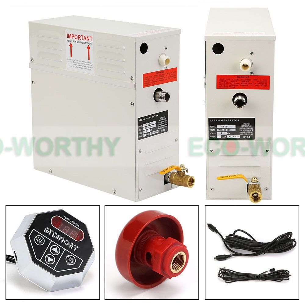 ECO-WOTHY New 9KW Steam Generator/Sauna Bath Home Spa Shower & Controller(China (Mainland))