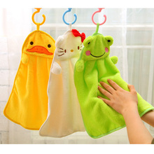 Colorful sweet candy colored cartoon baby towel super soft coral fleece kid child towel wipe sweat hung towel