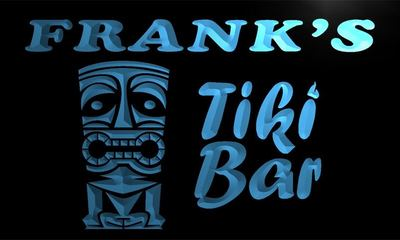 x0031-tm Frank's Tiki Bar Custom Personalized Name Neon Sign Wholesale Dropshipping On/Off Switch 7 Colors DHL(China (Mainland))