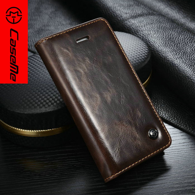 CaseMe Luxury leather case for iPhone SE Flip cover with card holder wallet for iphone 5 6 luxury phone bags for s6/s6edge plus
